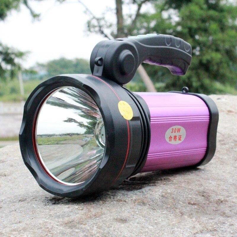 YUPARD Flashlight Torch Searchlight flood light outdoor camping fishing hunting USB power bank bright XM-L T6 led 30W spotlight