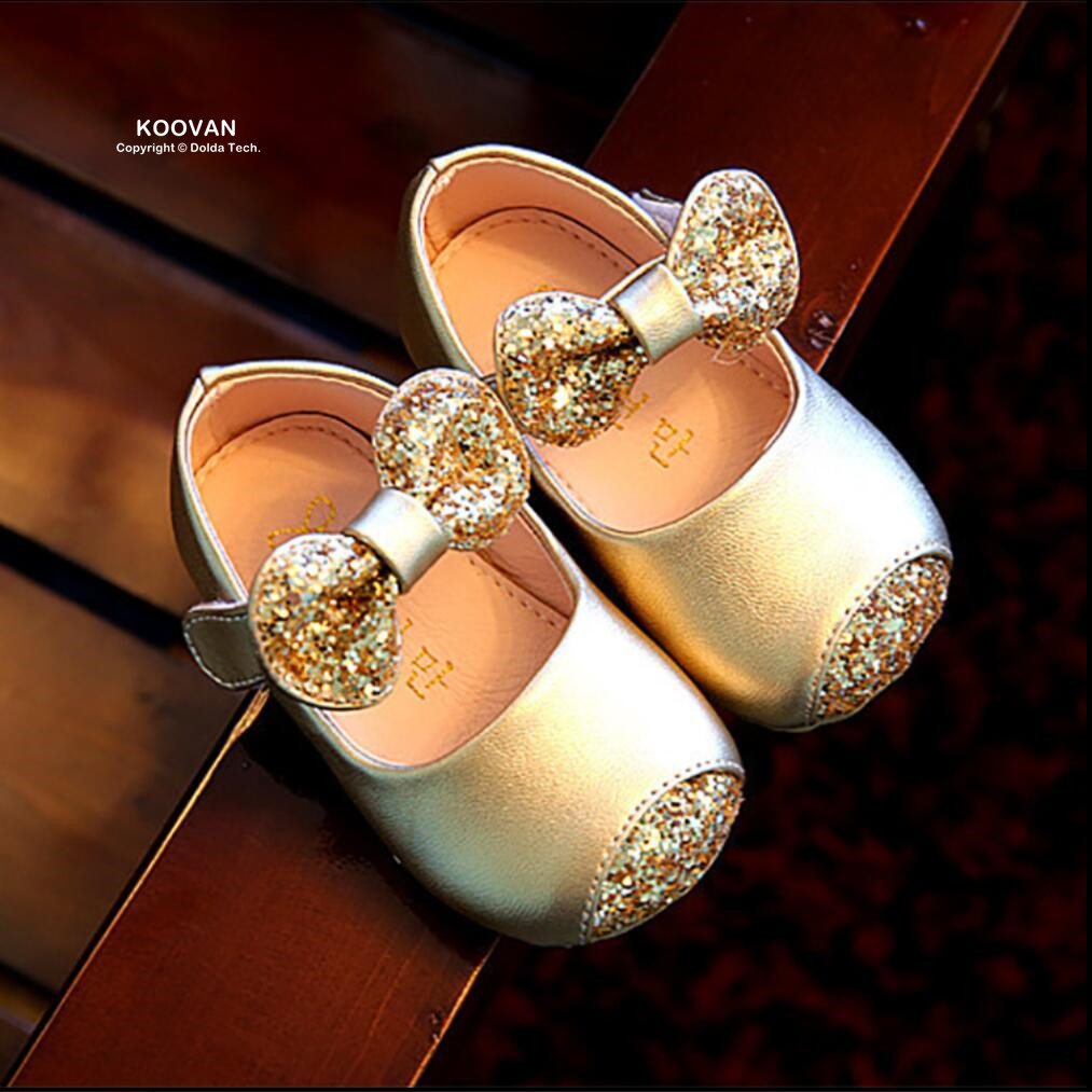 Koovan Baby Flats 2017 Girls Shoes Spring Autumn Baby Shoes Toddler Dance Non slip Soft Bottom
