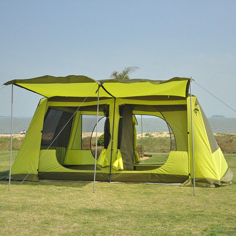 Plete Outdoors Family Tent 4 Room Sleeps 15 Huge & Huge Family Tents - Best Tent 2018