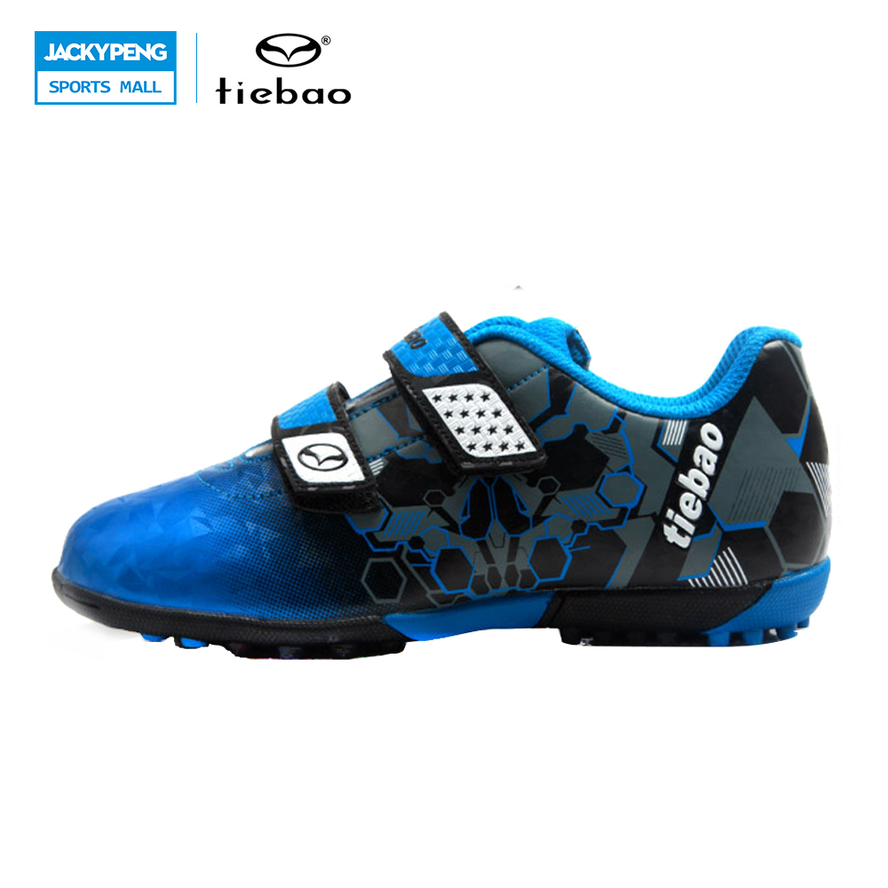 TIEBAO Professional Soccer Shoes Sports Football Boots TF Turf Soles Sneakers Shoes Soccer Kids Chuteira Futebol Soccer Cleats health top soccer shoes kids football boots cleats futsal shoes adult child crushed breathable sport football shoes plus 36 45
