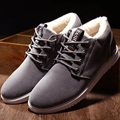 Ankle boots para homens botas à prova d' água 2016 superstar curto pelúcia plano com botas de neve botas de camurça quente sapatos baratos 39-44 inverno botas