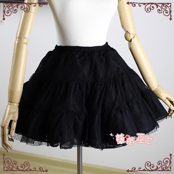 Trumpas Pettiskirt Rokability Lolita Petticoat linija iš braškių - Moteriški drabužiai - Nuotrauka 4