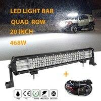 468W Offroad 20 inch Led Light Bar12V 24V LED Work Light Bar Auto Led Bar Light Combo Beam for 4WD ATV Uaz Truck Lada jeep