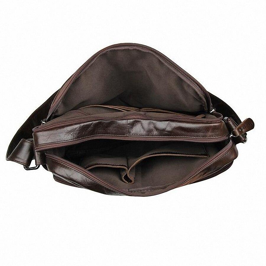2019 Mode Echt Leer Man Tas Koeienhuid Lederen Mannelijke Cross Body Bag Casual Mannen Multifunctionele Schoudertas LI 1271 - 6