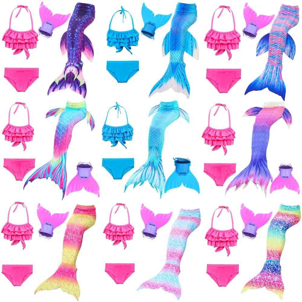 15eccfe3fa New 26 Colors Ariel Mermaid Tail Swimming Mermaid Tail with Flipper Bikini  Girls Children Swimmable Mermaid