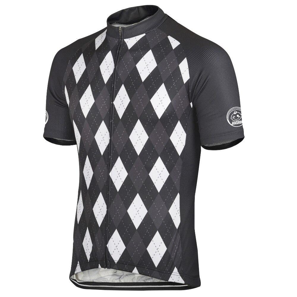 Prix pour 2016 Hommes Andorre Argyle vélo jersey noir blanc cyclisme vêtements ropa ciclismo maillot équitation cycling team porter À Séchage Rapide