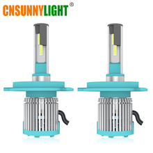 CNSUNNYLIGHT Car LED Headlight Bulb H7 H4 H11 H8 9005 9006 H1 H3 880 H13 w/Clear Lighting Line 72w 8000LM White Compact Headlamp