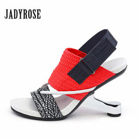 Jady Rose Colorful Women Gladiator Sandals Strange Heel Female Prom Dress Shoes Woman Sexy High Heels