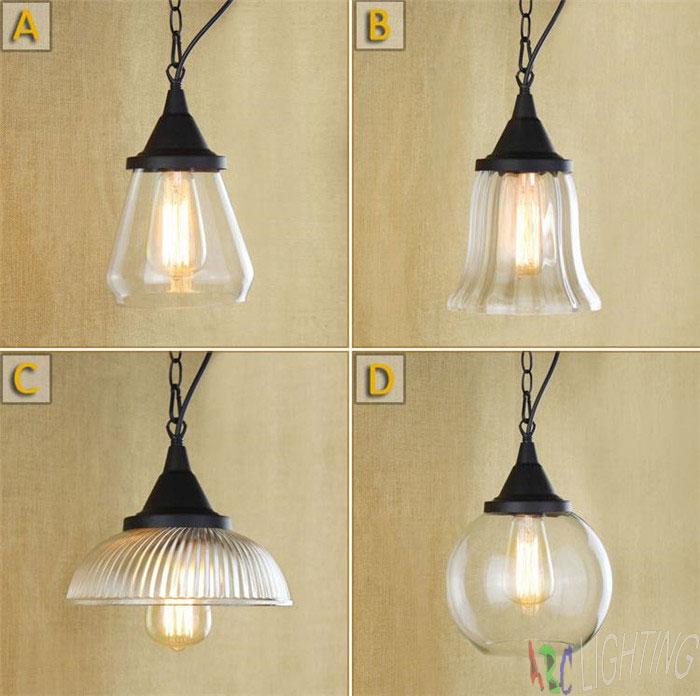 glass pendant light bowl shape clear industrial retro lamp edison lamp luminaires lustres e pendentes lampara bowl pendant lighting