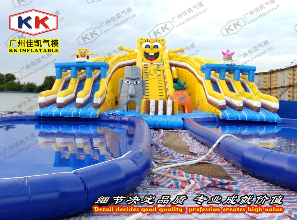 Classic Cartoon Water Slide Giant Inflatable Pool For Kids And Adults In Bouncers From Toys Hobbies On Aliexpress