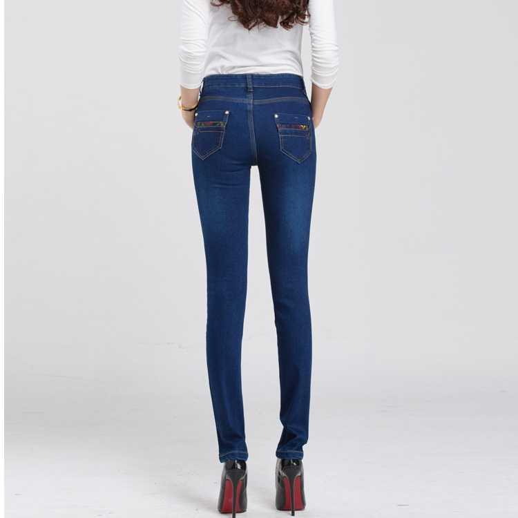 fd942bb1e360 2019 женские джинсы с высокой талией женские Стрейчевые джинсы с высокой  талией ed ...
