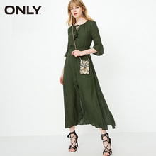 ONLY 2019 Spring Summer Women Lace-up Flared Sleeves Floral Dress |118207531 все цены