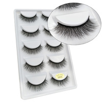20/30/50 Packs Make your own logo custom 3D mink lashes G805 lashes with private logo for bulk wholesale