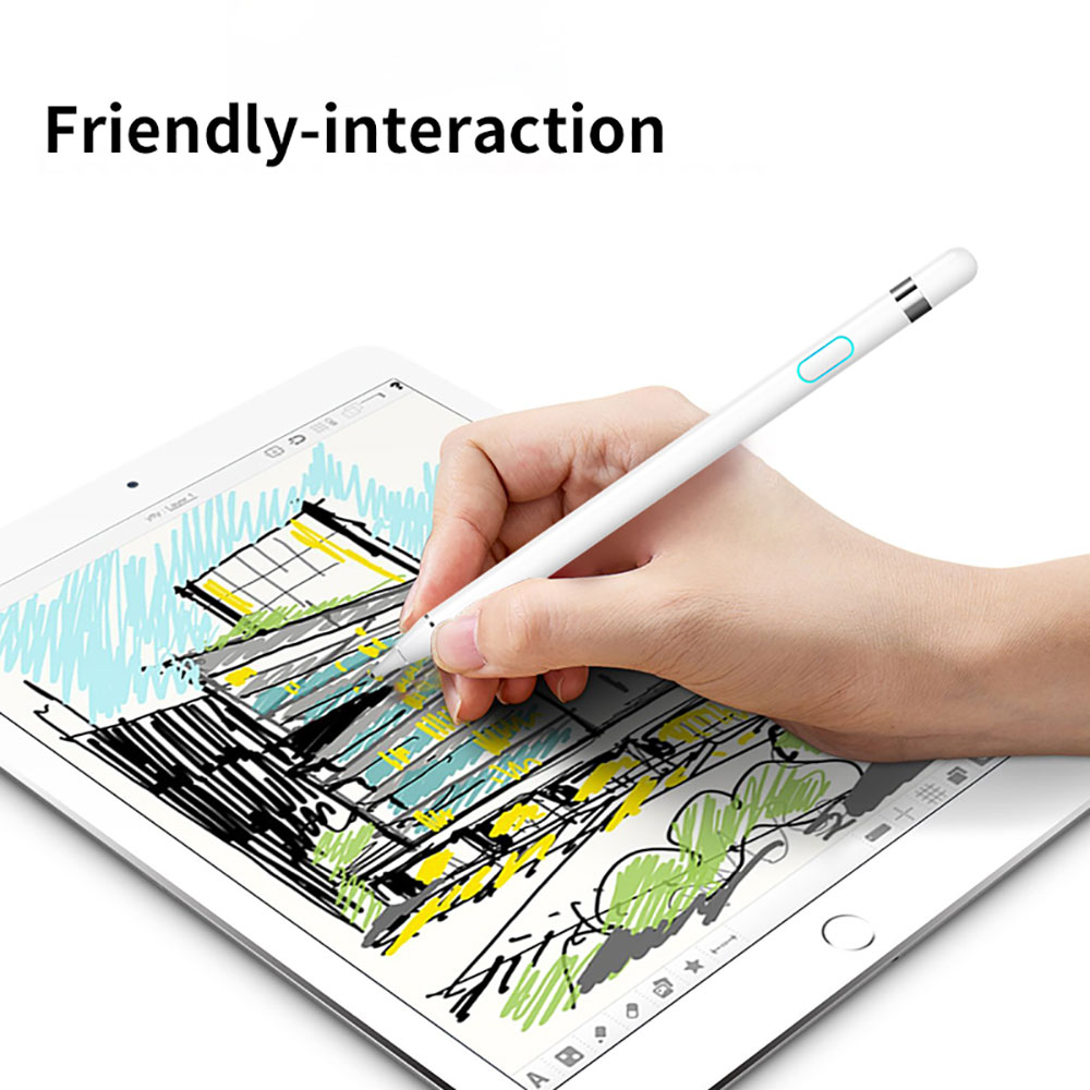 WIWU Touch Pencil for iPad 2018 Stylus Pen Compatible for Android & IOS Capacitive Screen Stylus Touch Pen for iPad Smart Pencil scalable capacitive touch screen stylus pen for iphone ipad ipod touch silver