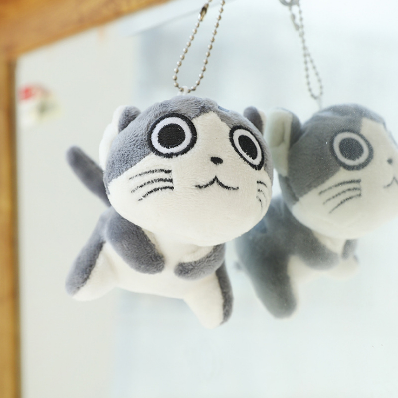 9 см мультфильм кошка плюшевые игрушки мягкие животные куклы игрушки брелок цепь Lote Peluches Para Bebe плюшевые кошки мягкие игрушки Juguetes