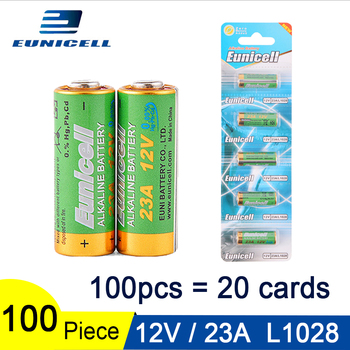 100pcs/20Cards 12V 23A Dry Alkaline Battery 21/23 A23 E23A MN21 MS21 V23GA L1028 For Toy Doorbell Control High Voltage Batteries