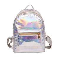 Hot Sale Summer New Laser Backpacks For Womens Casual Silver Hologram Bag For Girls School Backpacks