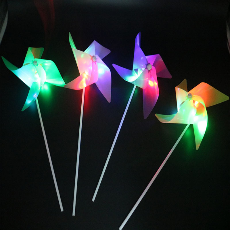 300pcs Flashing Light Up LED Windmill DIY Glows Toys For