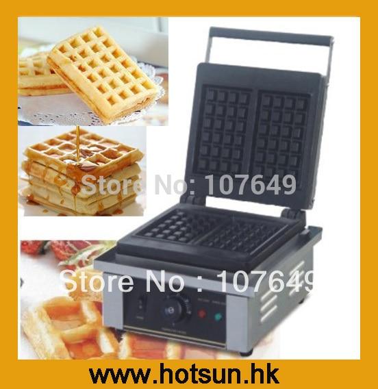 Commercial Non-stick 110V 220V Electric Belgian Liege Waffle Iron Baker Maker Machine