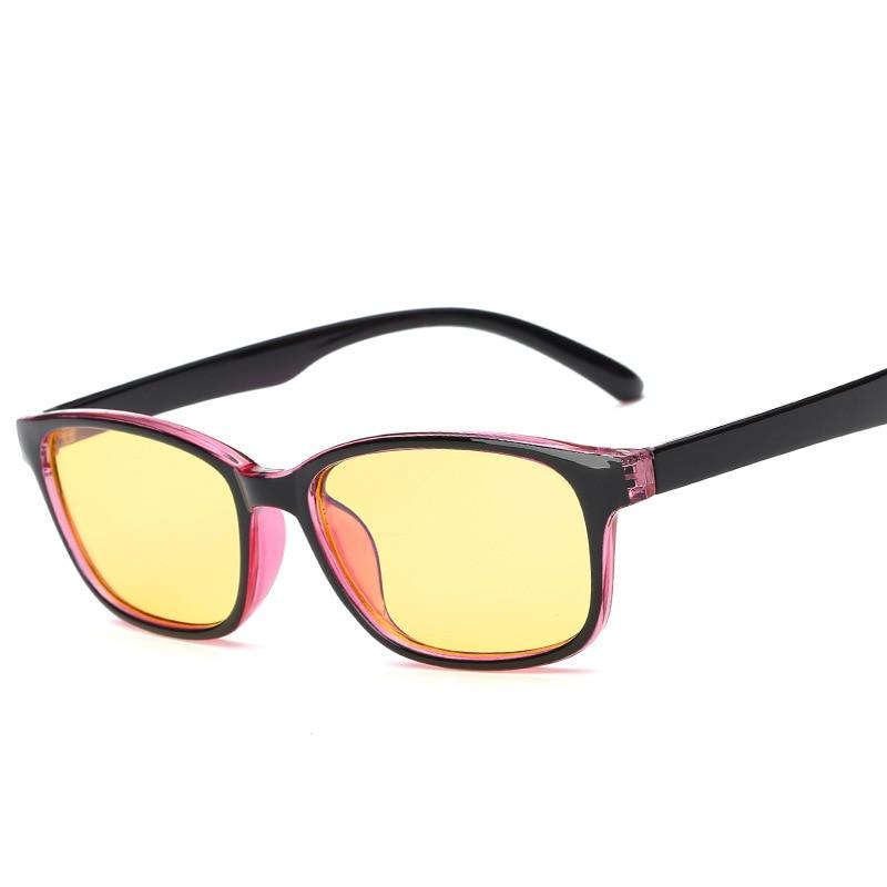Women's Glasses Dearmiliu Oval Rose Gold Frame Blue Light Blocking Glasses Led Computer Reading Radiation-resistant Glasses Gaming Eyewear