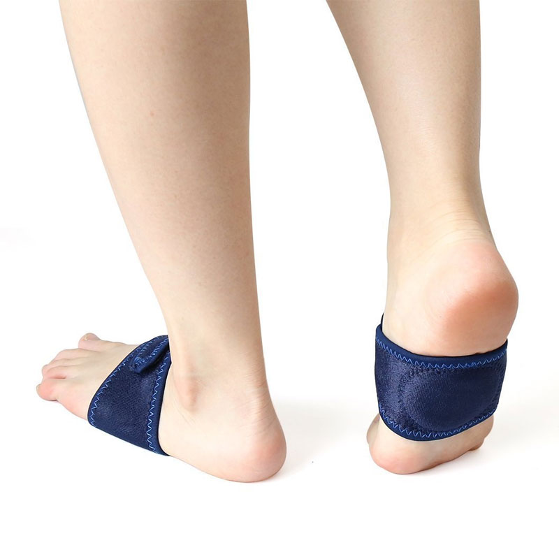 Tcare 1Pair Arch Support Brace Plantar Fasciitis Strap for Foot Pain High Arches & Flat Feet Compression Wrap Insert for Shoes
