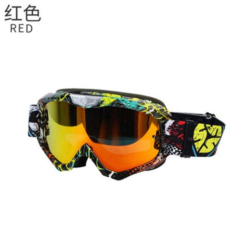 SCOYCO G04 Ski Snowboard motoneige lunettes moto Motocross course lunettes coupe-vent Anti-buée UV400 lunettes-rouge