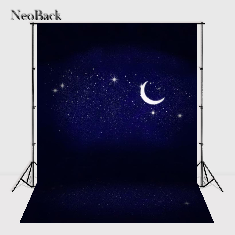 NeoBack 2017 Fast 5x7ft vinyl Moon lighte view new born baby photo backgrounds Printed Children kids Photo Backdrops P0775