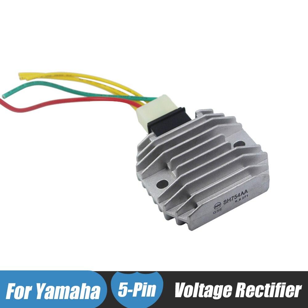 Motorcycle Regulator Rectifiers 5 Wires Plug for FZR600 FZ6R FZ6S YZF R1 R6 XVS1100 V-Star XVS 125 WR250R XP500