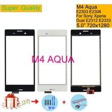 Touchscreen For Sony Xperia M4 AQUA E2303 E2306 E2353 Touch Screen Digitizer Front Glass Panel Sensor Lens DUAL E2312 E2333 sony xperia m4 aqua dual coral