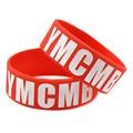 25 Unids/lote Young Money Cash Money Multimillonarios YMCMB Wristand Silicio