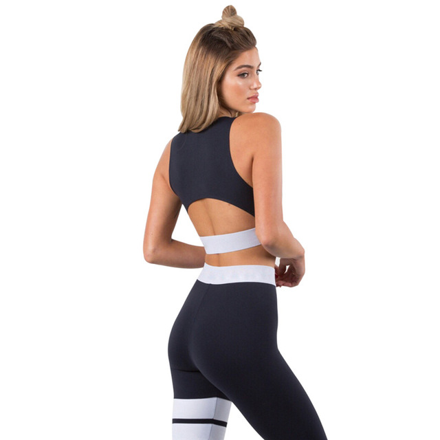 Women Tracksuit Solid Yoga Set