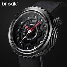 BREAK Mens Watches Top Brand Luxury Racing Motorcyle Sport Watcs Men's Gift Rubber Strap Casual Waterproof Creative Wristwatch