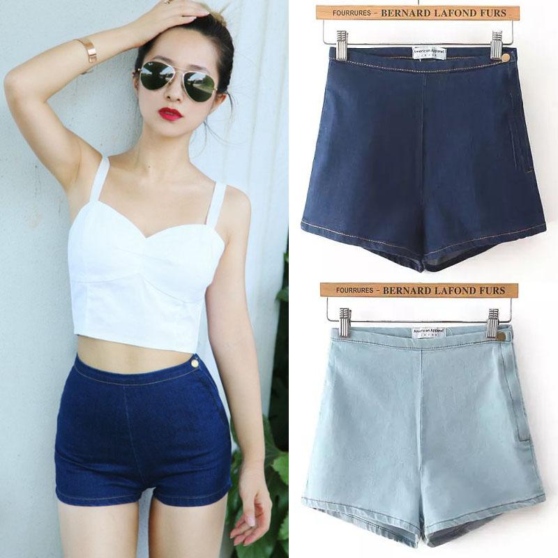 Online Get Cheap American Apparel Vintage High Waist Denim Shorts ...