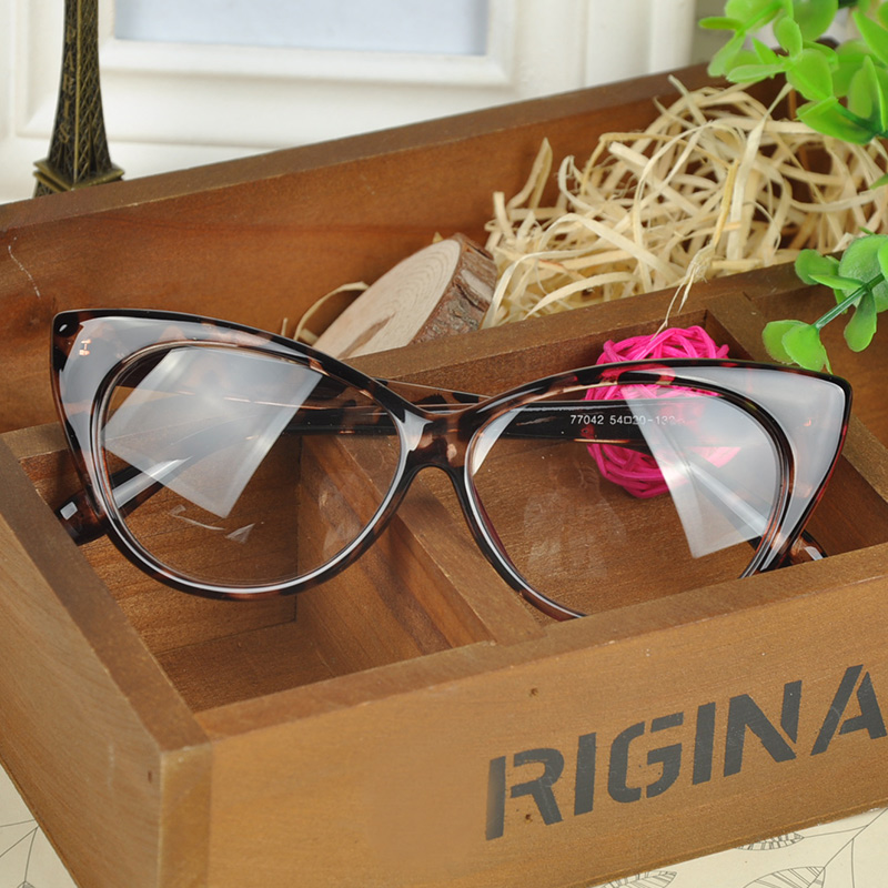 2018 ojos de cristal leopardo marco gafas marco mujer marca llano ...
