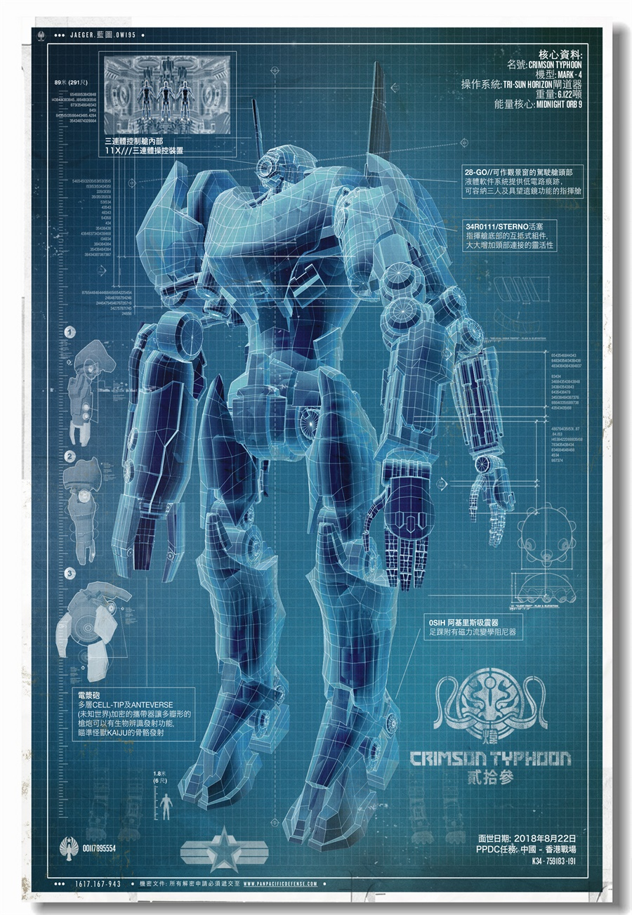 Custom Canvas Wall Art Pacific Rim Uprising Poster Coyote Tango Stickers Jaeger Blueprint Wallpaper Cherno Alpha Decals 0378 In Wall Stickers From Home