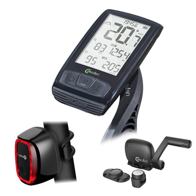 Vélo Sans Fil Compteur De Vitesse Ordinateur De Vélo vélo Tachymètre cadence Bluetooth Capteur livraison feu arrière