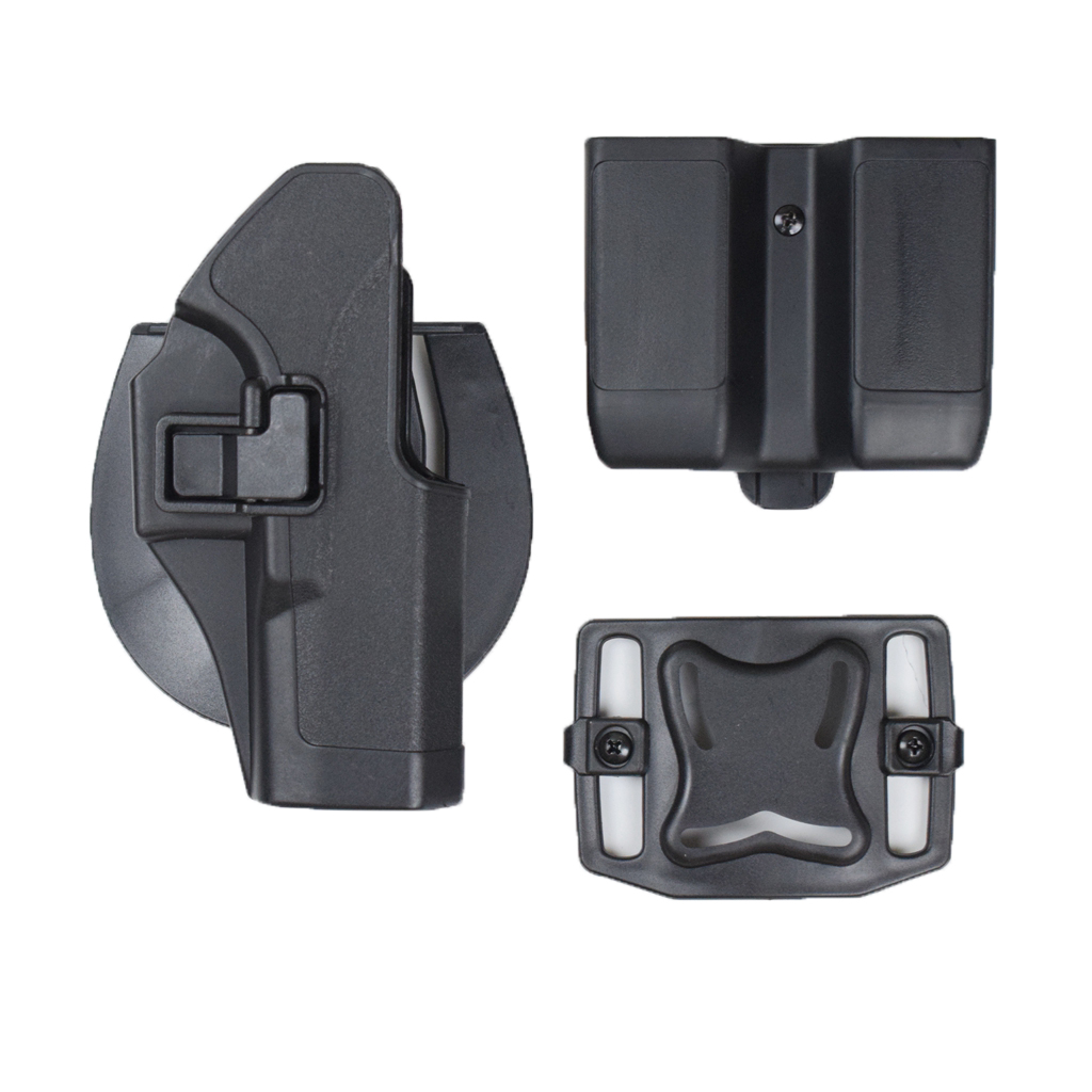 Outdoor Combat Military Hunting Glock Gun Holster and Double Magazine Pouch for Glock 17 19 22 23 31 32(China)