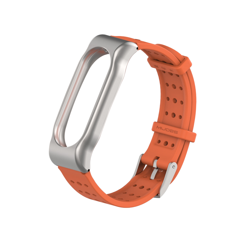 Mijobs Sport Mi Band 2 Strap Silicone Bracelet for Xiaomi Mi Band 2 Strap Smart Band Accessories Wristband Mi Band 2 Strap Metal in Smart Accessories from Consumer Electronics