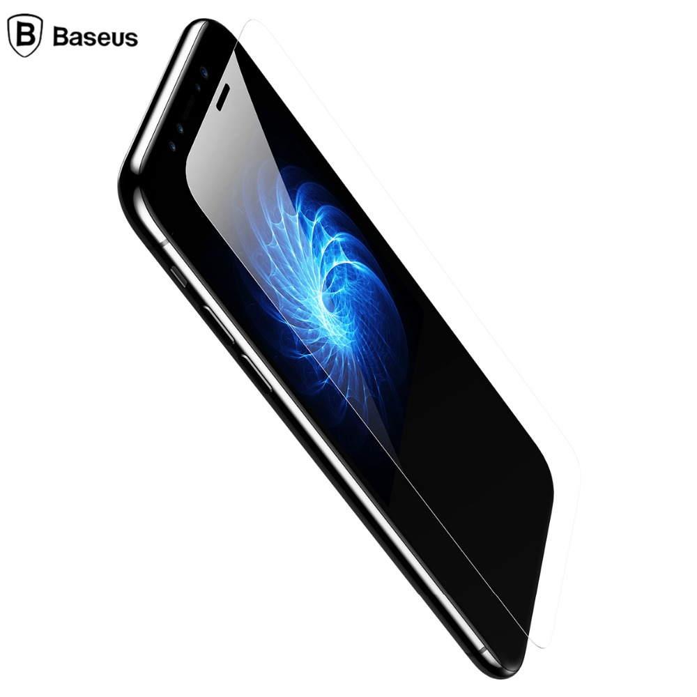 Baseus 9H Screen Protector Tempered Glass For iPhone X 0