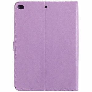 Image 2 - Für iPad Air 2 Fall Prägung Katze Unter Dem Baum Premium PU Leder Flip Brieftasche Stand Fall Karte Halter Abdeckung für iPad Air2 iPad 6