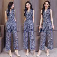 Summer Thailand style women clothing sets modern fashion Hollow Lace Sweet suit Asia & Pacific Islands Clothing