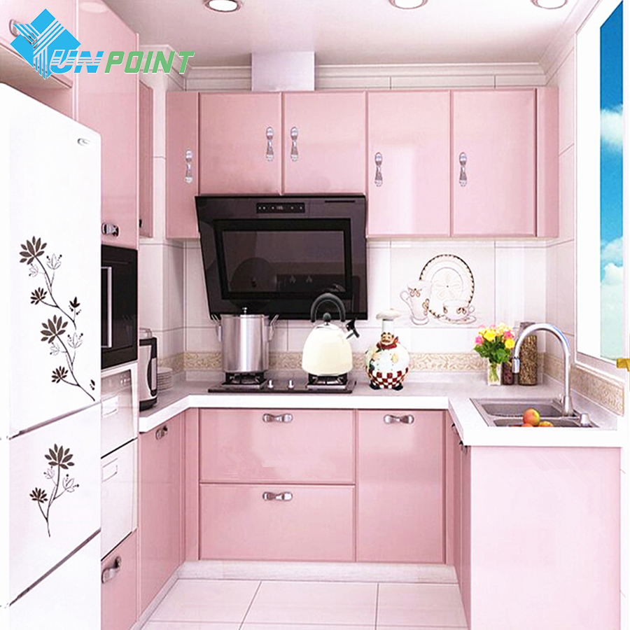 European Self Adhensive Wallpaper Paint Flash PVC Wall Papers Kitchen Cupboard Door Furniture DIY Stickers Vinyl Decorative Film