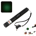 50MW Multipurpose Adjustable Focus Burning Match Starry Sky 303 Green Beam Laser Pens Pointer Pen Flashlight with Safe Key Lock
