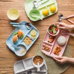 5pcs/set Dinnerware Set Animal zoo baby Plate bow cup Forks Spoon Dinnerware feeding Set, Melamine  Baby children tableware set
