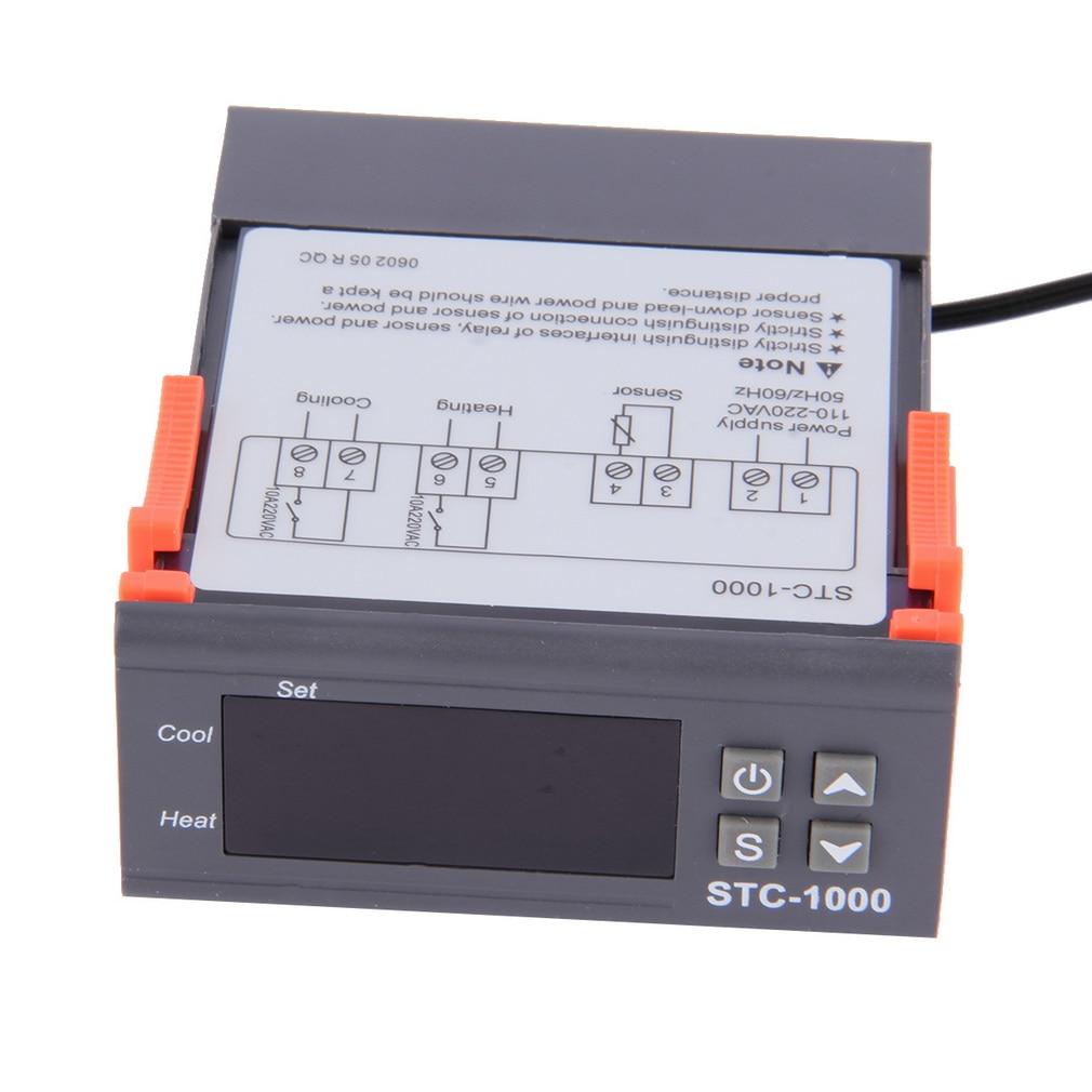 Temperature 1pc High Quality Temperature Controller Thermostat Aquarium STC1000 Incubator Cold Temp Laboratories