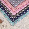 1.5*1 M flor Losango impresso tecidos tecido de poliéster verde têxtil tecidos não se desvanece a enviar um par de tesoura