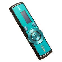 LCD USB MP3 Player FM Radio Player Support 16GB Micro SD / TF Card With Headphones Blue