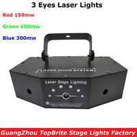 Free Shipping 3 Lens Laser Light 550mw RGB 3IN1 Laser Projector Professional Stage Lighting Disco Lights DMX512 Control DJ Light