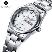Luxury Brand Women Watches Women Quartz Date Analog Clock Ladies Silver Stainless Steel Casual Wrist Watch
