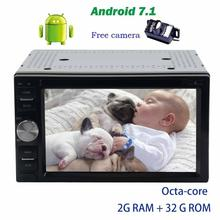 Backup camera+Android 7.1 Octa-core autoradio Car DVD Player 7 pc unit GPS Bluetooth support Wifi 4G/3G USB/SD FM AM RDS Radio